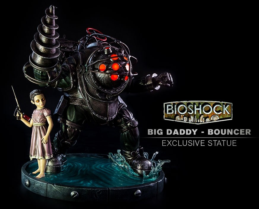 GAMING HEADS : Bioshock – Big Daddy Bouncer and Little Sister Statue Biosho10