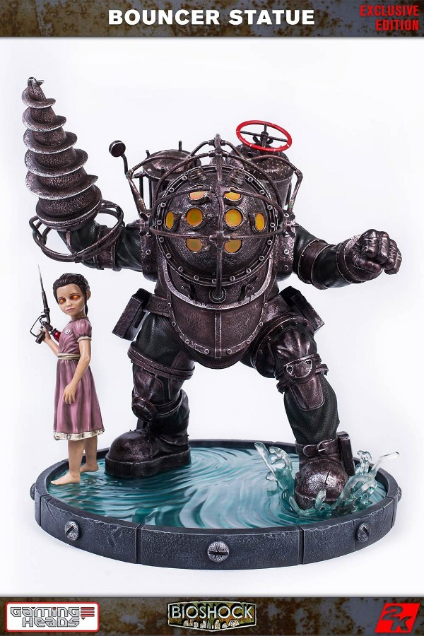 GAMING HEADS : Bioshock – Big Daddy Bouncer and Little Sister Statue Biosho11