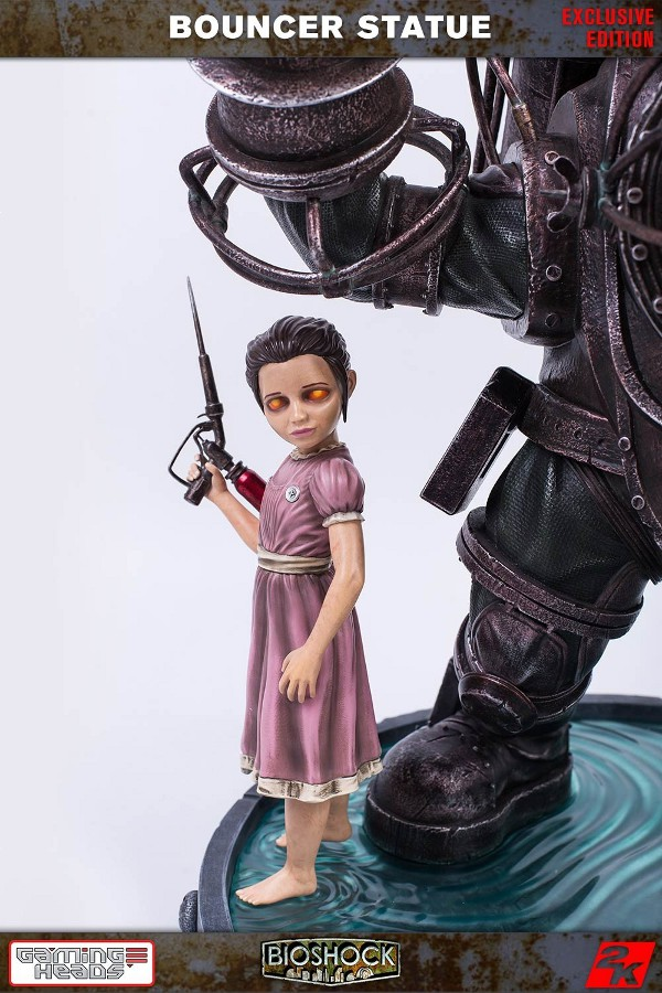 GAMING HEADS : Bioshock – Big Daddy Bouncer and Little Sister Statue Biosho12