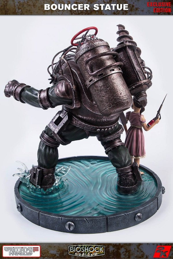 GAMING HEADS : Bioshock – Big Daddy Bouncer and Little Sister Statue Biosho15