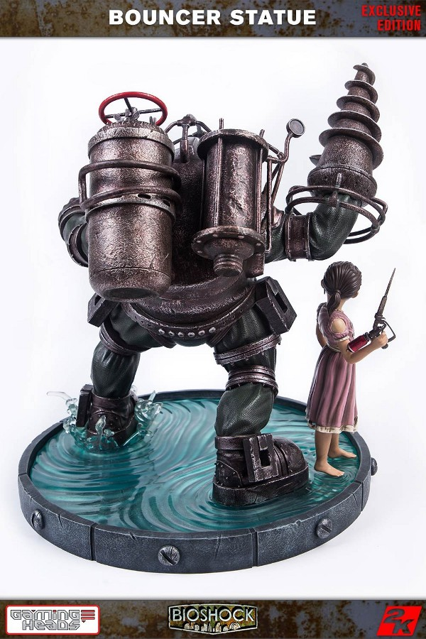 GAMING HEADS : Bioshock – Big Daddy Bouncer and Little Sister Statue Biosho16