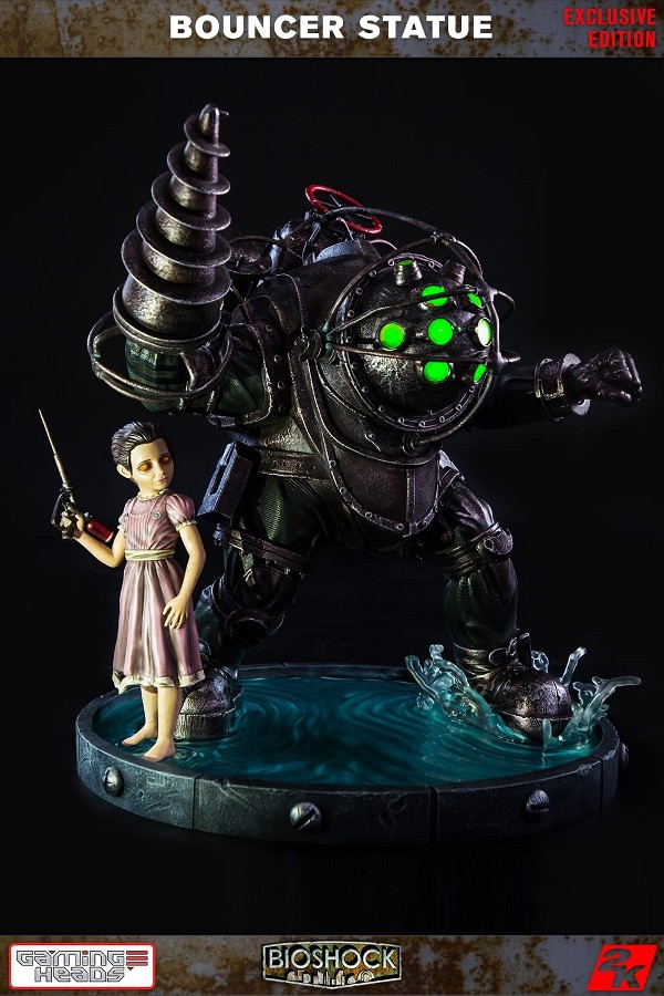 GAMING HEADS : Bioshock – Big Daddy Bouncer and Little Sister Statue Biosho19