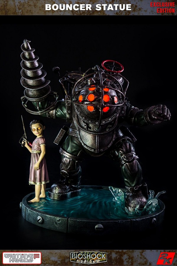 GAMING HEADS : Bioshock – Big Daddy Bouncer and Little Sister Statue Biosho22