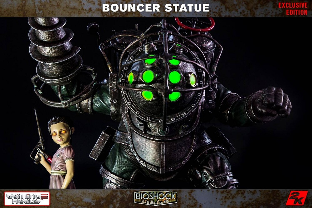 GAMING HEADS : Bioshock – Big Daddy Bouncer and Little Sister Statue Biosho23