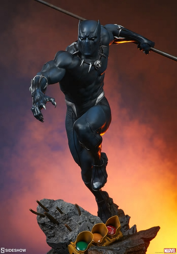 BLACK PANTHER statue - Avengers Assemble Collection  Black_10