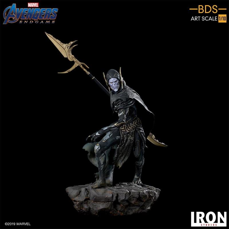 IRON STUDIOS : Avengers: Endgame - Corvus Glaive Black Order BDS Art Scale 1/10 Corvus10