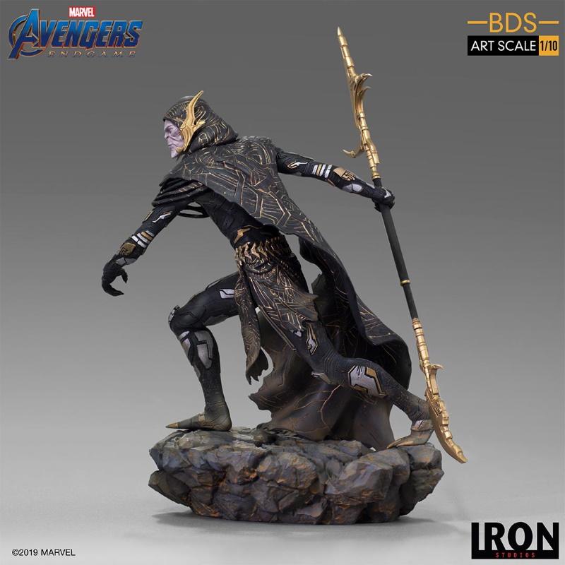 IRON STUDIOS : Avengers: Endgame - Corvus Glaive Black Order BDS Art Scale 1/10 Corvus12