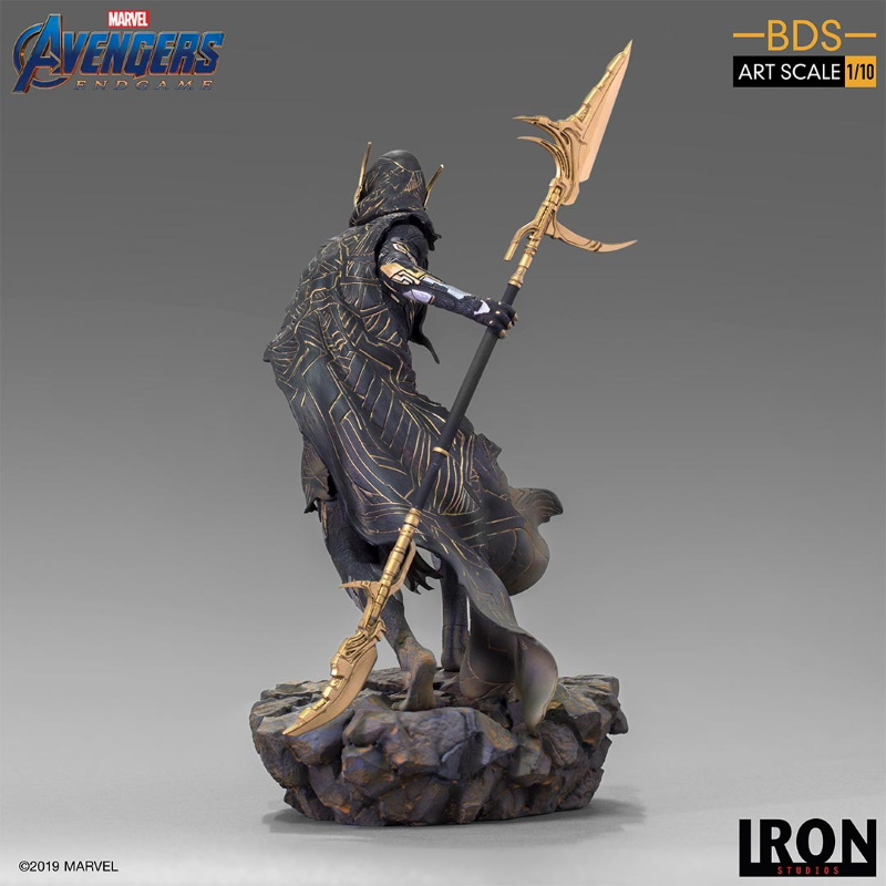 IRON STUDIOS : Avengers: Endgame - Corvus Glaive Black Order BDS Art Scale 1/10 Corvus13