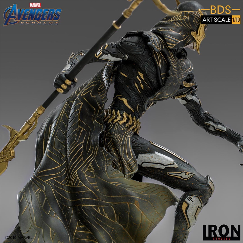 IRON STUDIOS : Avengers: Endgame - Corvus Glaive Black Order BDS Art Scale 1/10 Corvus18