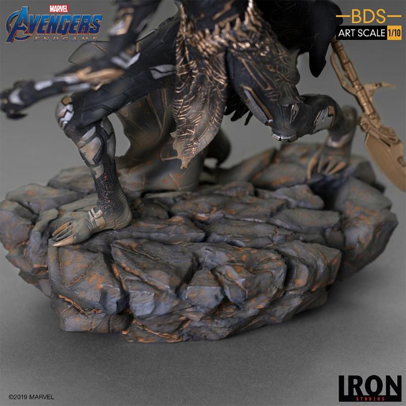 IRON STUDIOS : Avengers: Endgame - Corvus Glaive Black Order BDS Art Scale 1/10 Corvus19