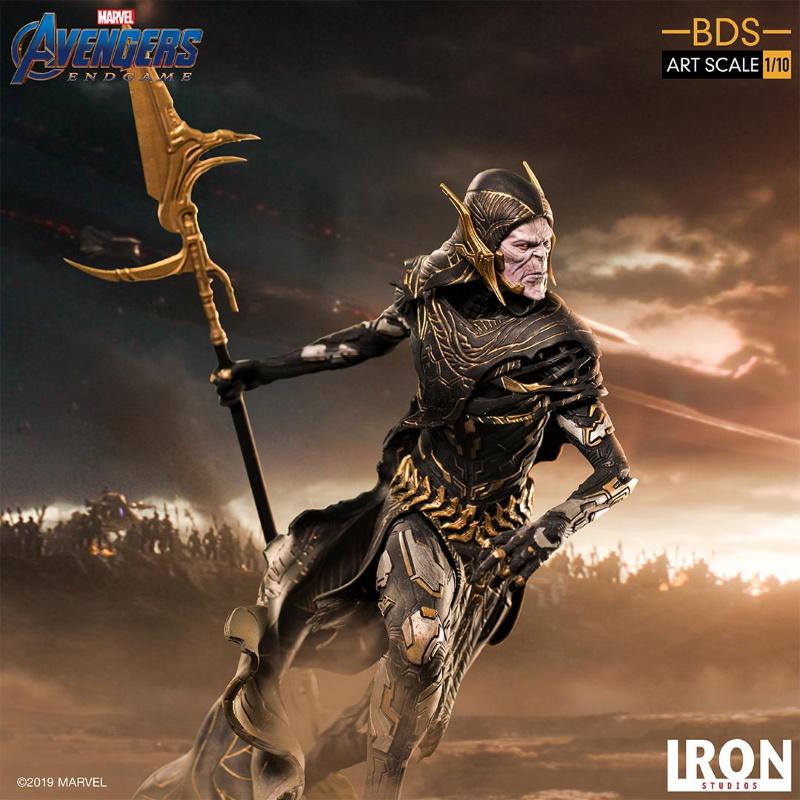 IRON STUDIOS : Avengers: Endgame - Corvus Glaive Black Order BDS Art Scale 1/10 Corvus20