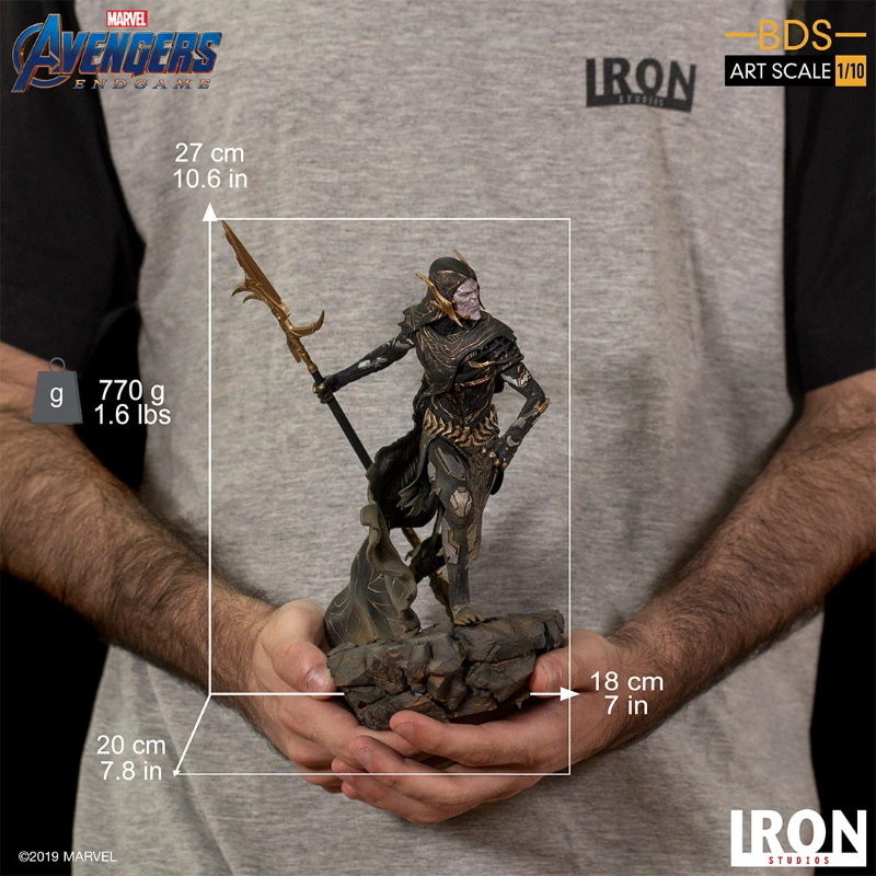 IRON STUDIOS : Avengers: Endgame - Corvus Glaive Black Order BDS Art Scale 1/10 Corvus24