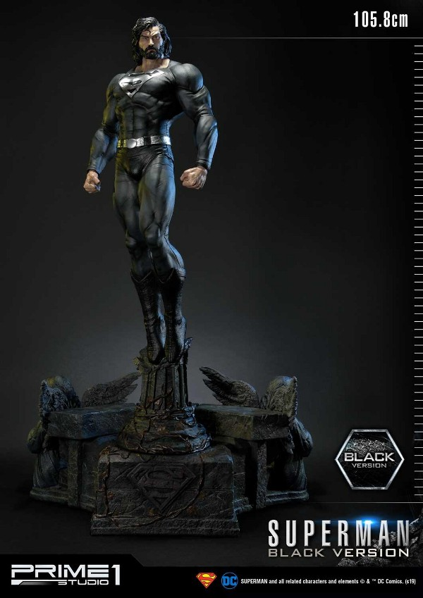 DC Comics – Black Suit Superman 1/3 scale Statue Dc_com11