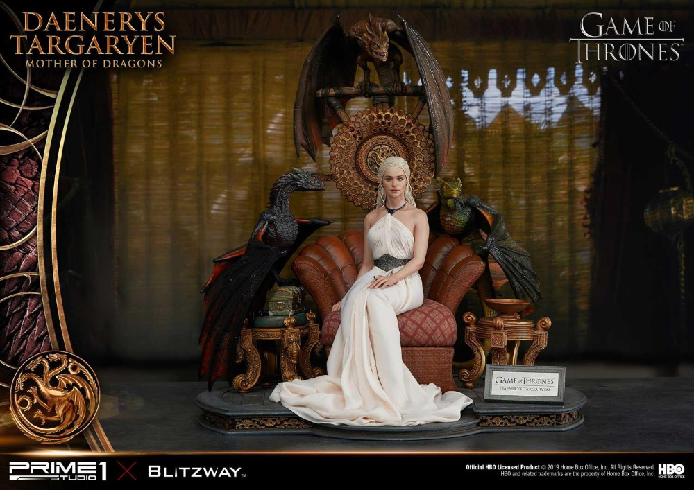 "Game of Thrones – Daenerys Targaryen ""Mother of Dragons"" 1/4 Scale Statue Game-o10"