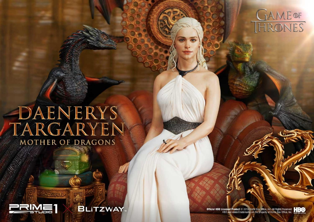 "Game of Thrones – Daenerys Targaryen ""Mother of Dragons"" 1/4 Scale Statue Game-o20"