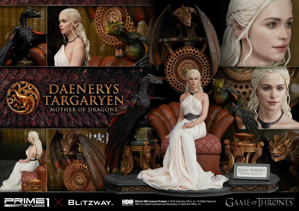 "Game of Thrones – Daenerys Targaryen ""Mother of Dragons"" 1/4 Scale Statue Game-o27"