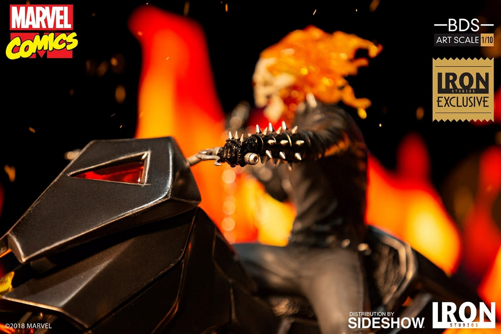 IRON STUDIOS : GHOST RIDER Art Scale 1:10 Battle Diorama Series Ghost_10