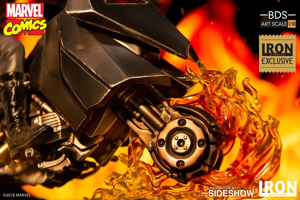 IRON STUDIOS : GHOST RIDER Art Scale 1:10 Battle Diorama Series Ghost_11