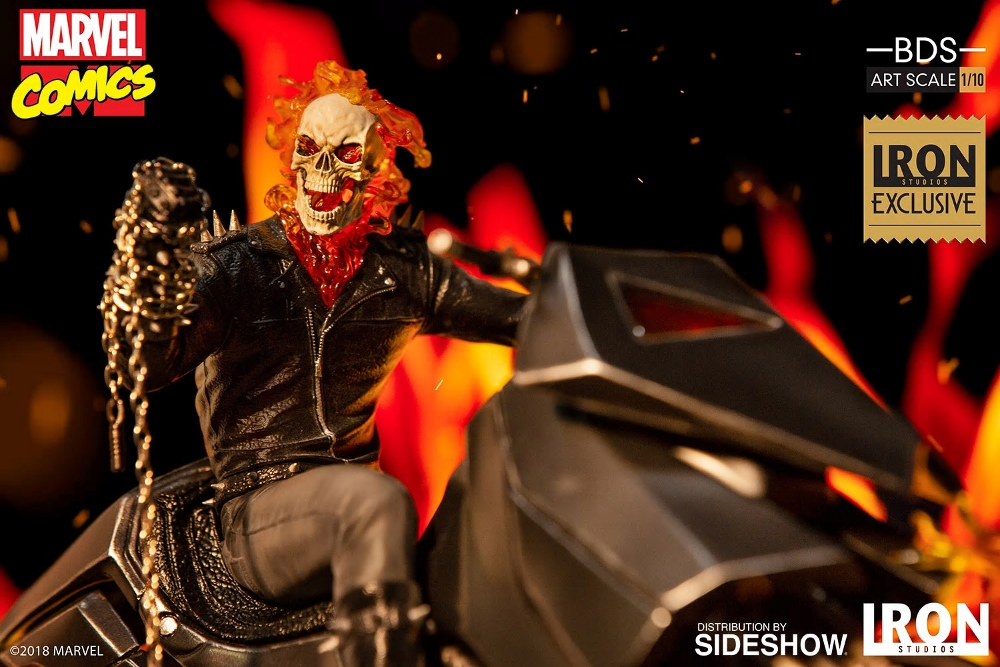 IRON STUDIOS : GHOST RIDER Art Scale 1:10 Battle Diorama Series Ghost_12