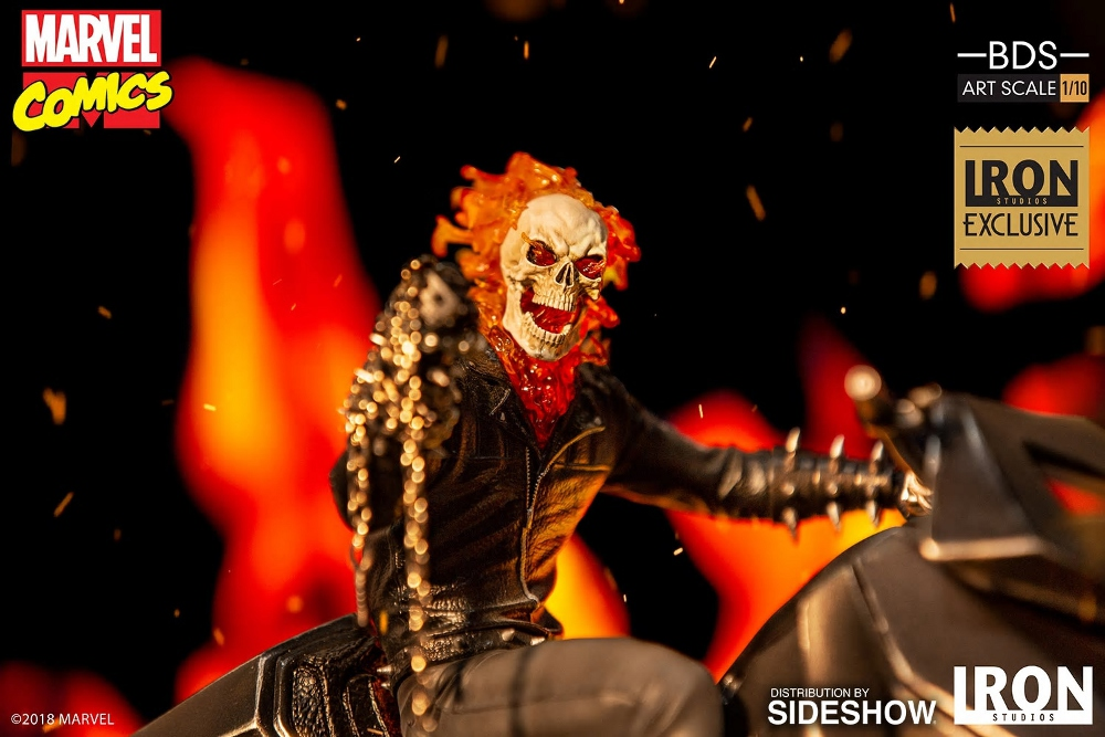 IRON STUDIOS : GHOST RIDER Art Scale 1:10 Battle Diorama Series Ghost_13