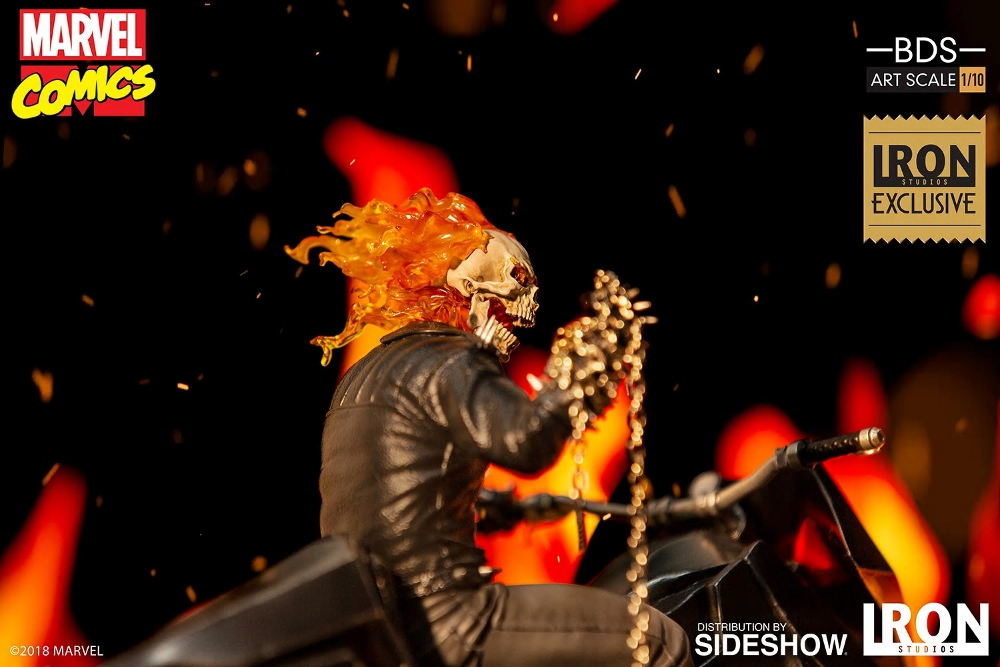 IRON STUDIOS : GHOST RIDER Art Scale 1:10 Battle Diorama Series Ghost_14