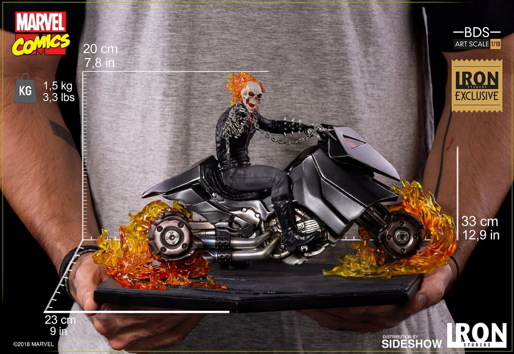 IRON STUDIOS : GHOST RIDER Art Scale 1:10 Battle Diorama Series Ghost_17