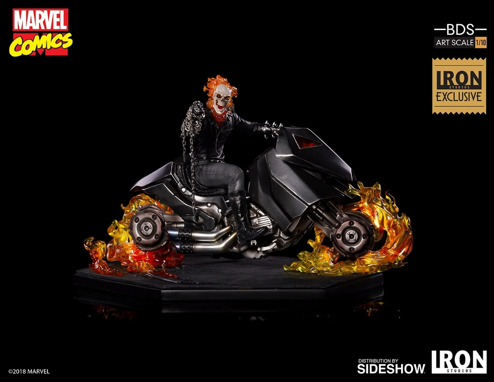 IRON STUDIOS : GHOST RIDER Art Scale 1:10 Battle Diorama Series Ghost_18
