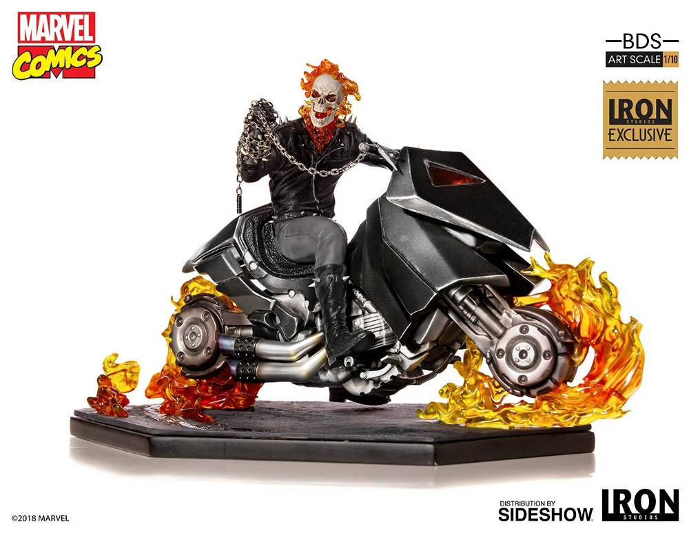 IRON STUDIOS : GHOST RIDER Art Scale 1:10 Battle Diorama Series Ghost_19