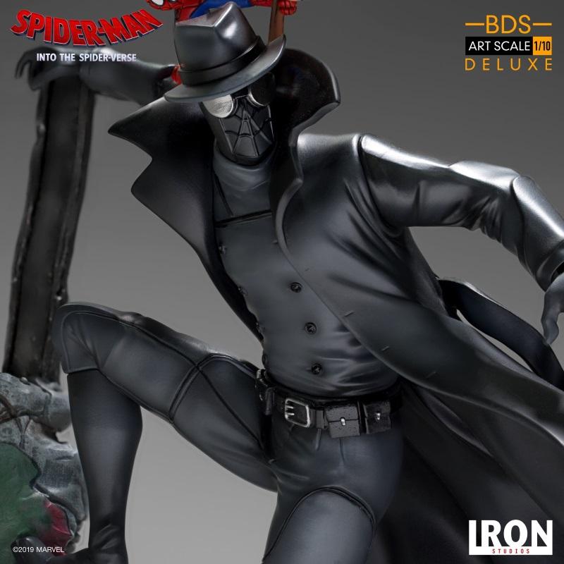 IRON STUDIOS : Spider-Man: Into The Spider-Verse – Noir Spider-Man and Spider-Ham Statue Iron-163