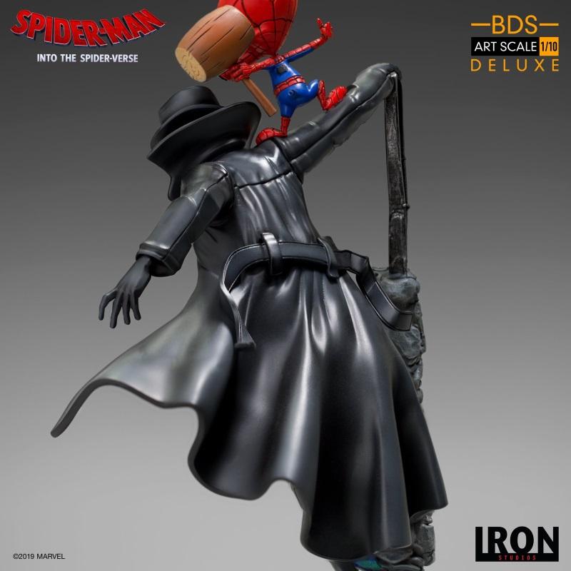 IRON STUDIOS : Spider-Man: Into The Spider-Verse – Noir Spider-Man and Spider-Ham Statue Iron-164