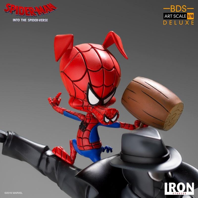 IRON STUDIOS : Spider-Man: Into The Spider-Verse – Noir Spider-Man and Spider-Ham Statue Iron-165