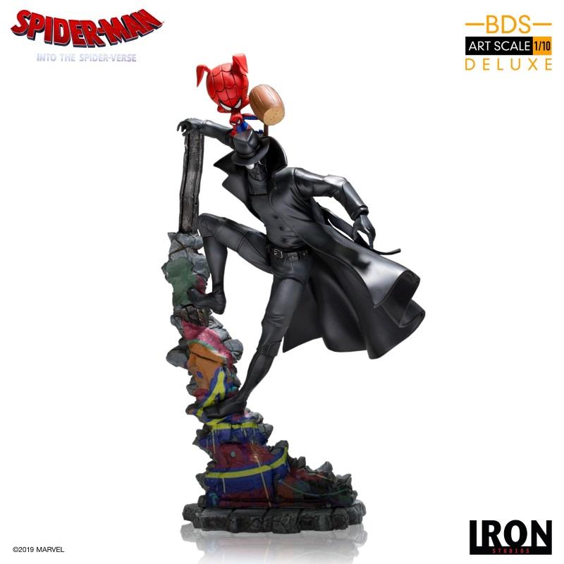 IRON STUDIOS : Spider-Man: Into The Spider-Verse – Noir Spider-Man and Spider-Ham Statue Iron-166