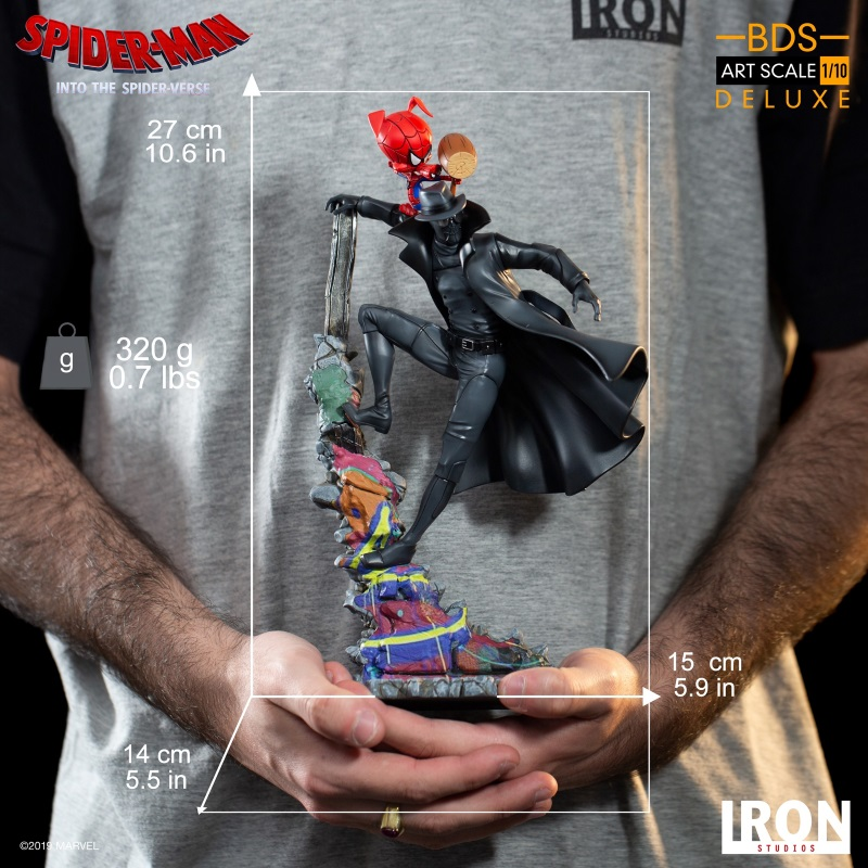IRON STUDIOS : Spider-Man: Into The Spider-Verse – Noir Spider-Man and Spider-Ham Statue Iron-167