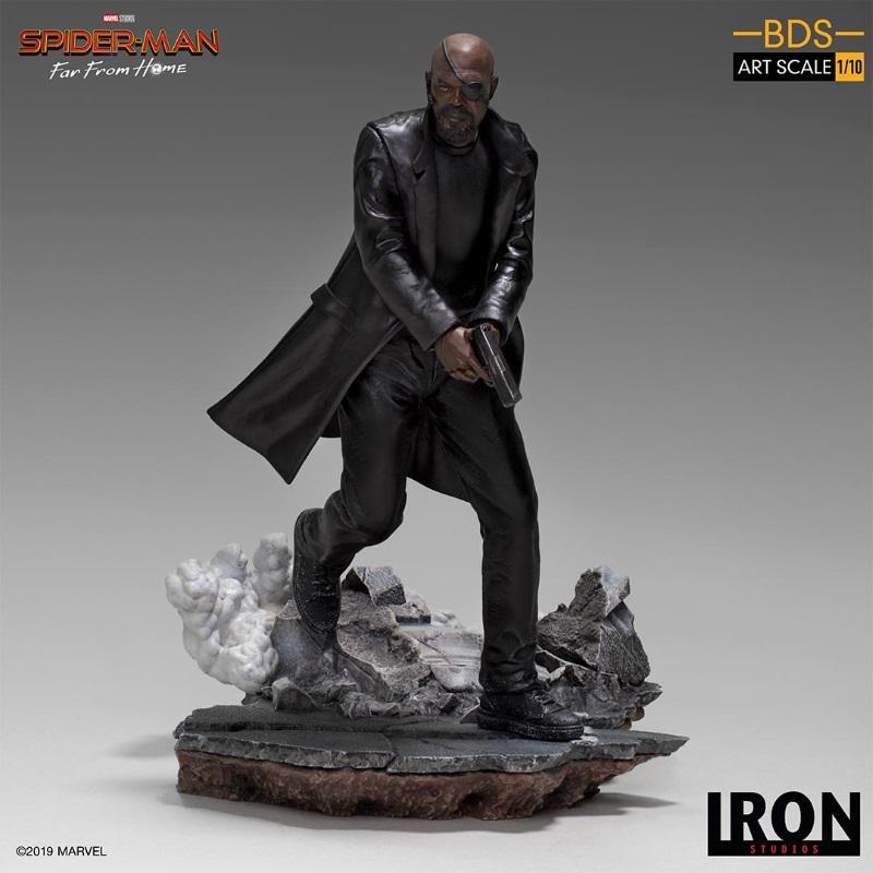 IRON STUDIOS : Spider-Man: Far From Home – Nick Fury 1/10 Statue Iron-187