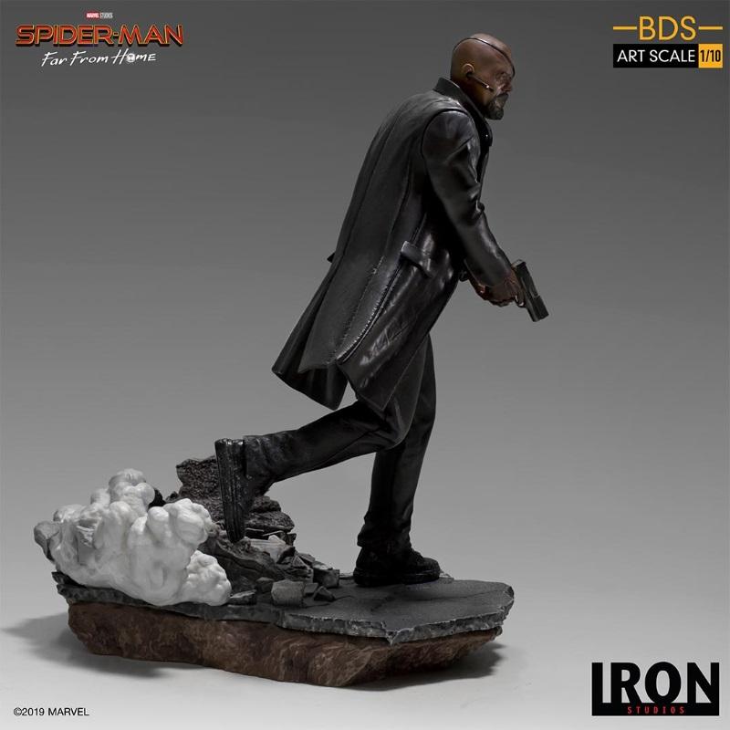 IRON STUDIOS : Spider-Man: Far From Home – Nick Fury 1/10 Statue Iron-188