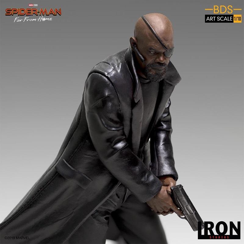 IRON STUDIOS : Spider-Man: Far From Home – Nick Fury 1/10 Statue Iron-191