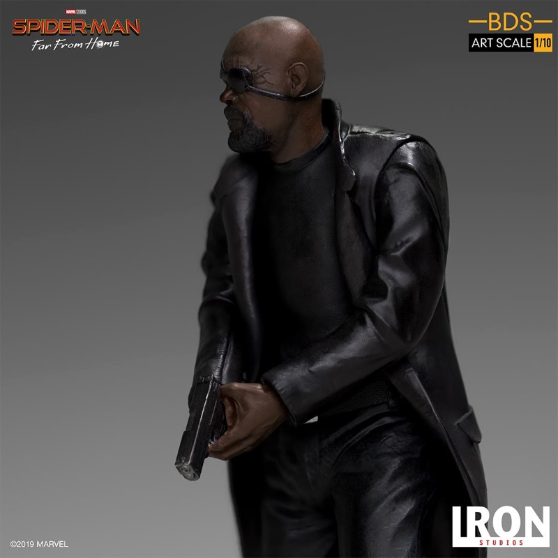 IRON STUDIOS : Spider-Man: Far From Home – Nick Fury 1/10 Statue Iron-193