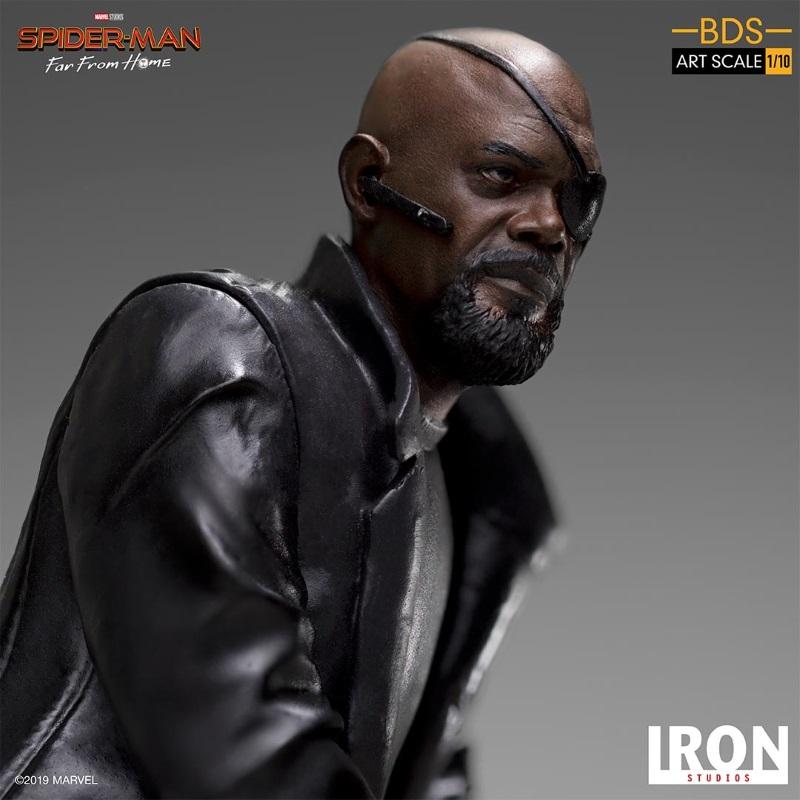 IRON STUDIOS : Spider-Man: Far From Home – Nick Fury 1/10 Statue Iron-194