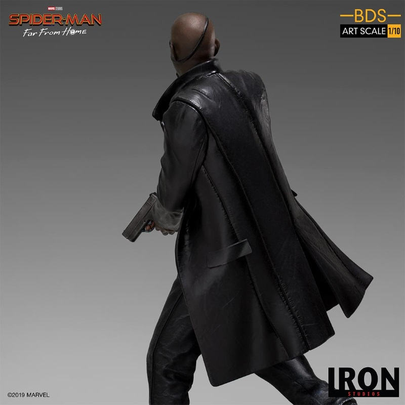 IRON STUDIOS : Spider-Man: Far From Home – Nick Fury 1/10 Statue Iron-195