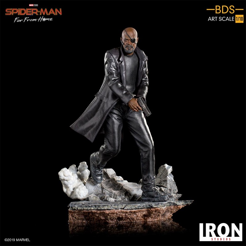 IRON STUDIOS : Spider-Man: Far From Home – Nick Fury 1/10 Statue Iron-196