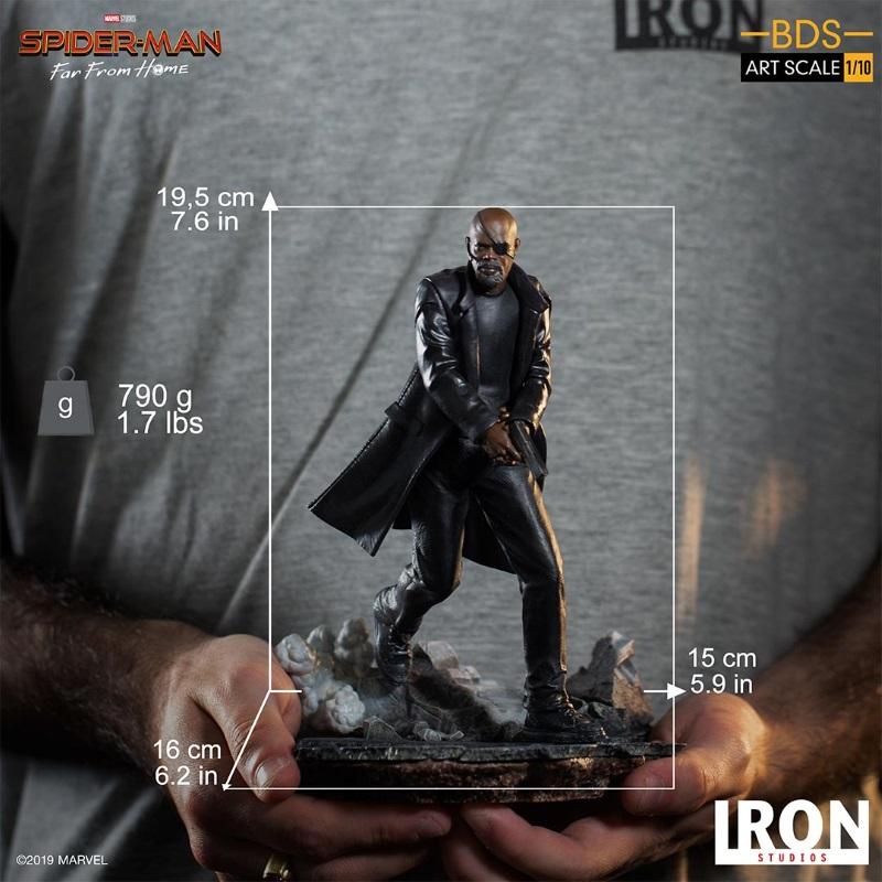 IRON STUDIOS : Spider-Man: Far From Home – Nick Fury 1/10 Statue Iron-197