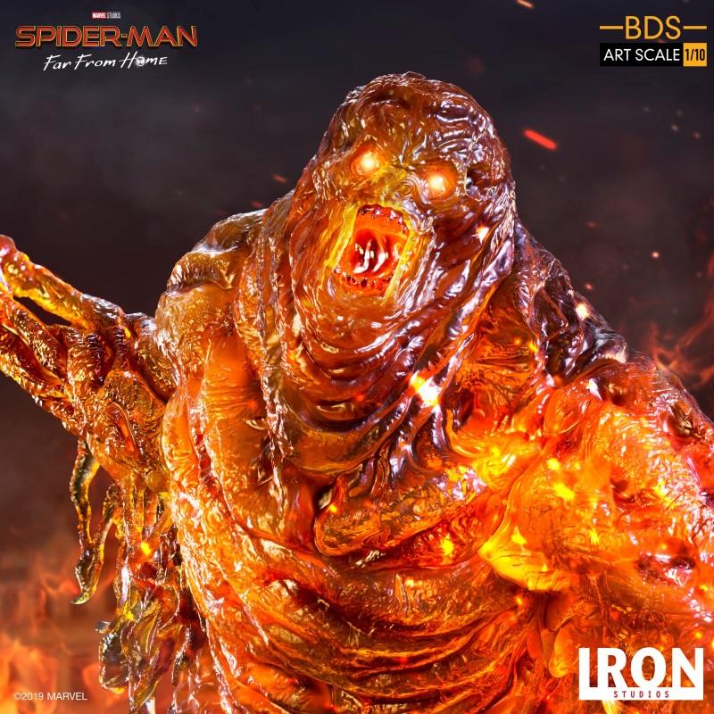 IRON STUDIOS : Spider-Man: Far From Home – Molten Man 1/10 scale Statue Iron-212
