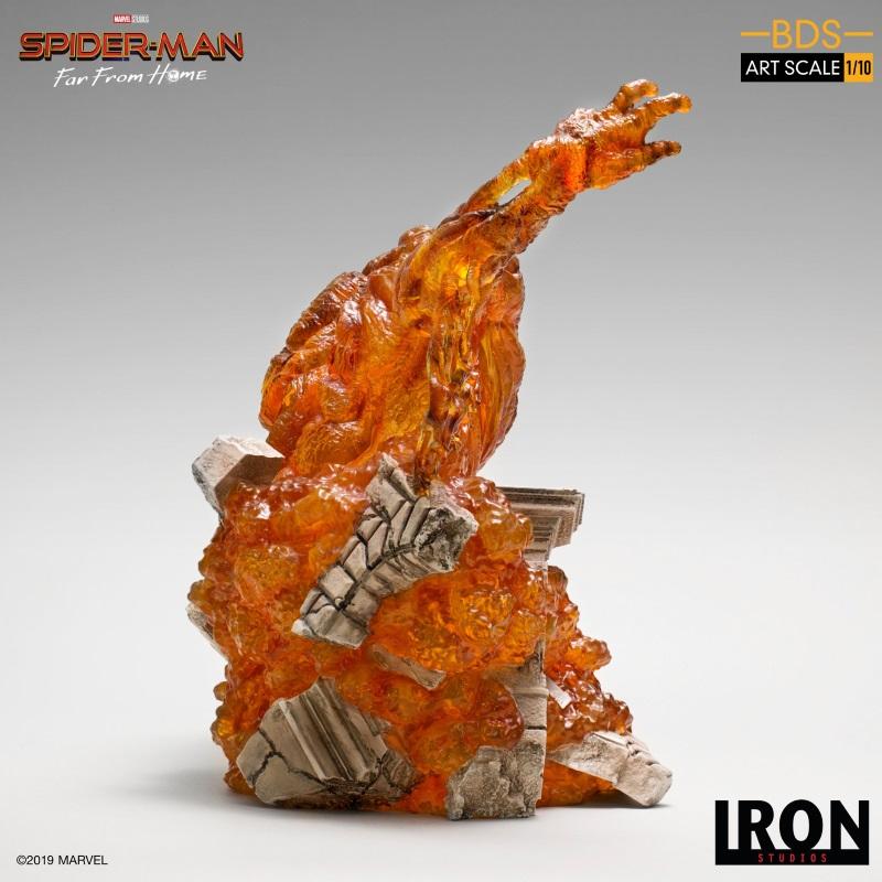 IRON STUDIOS : Spider-Man: Far From Home – Molten Man 1/10 scale Statue Iron-215
