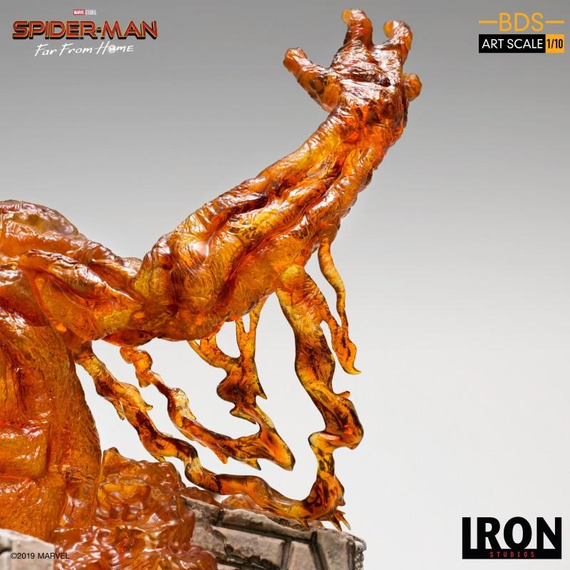 IRON STUDIOS : Spider-Man: Far From Home – Molten Man 1/10 scale Statue Iron-220