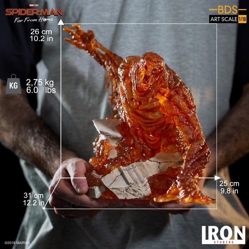 IRON STUDIOS : Spider-Man: Far From Home – Molten Man 1/10 scale Statue Iron-222