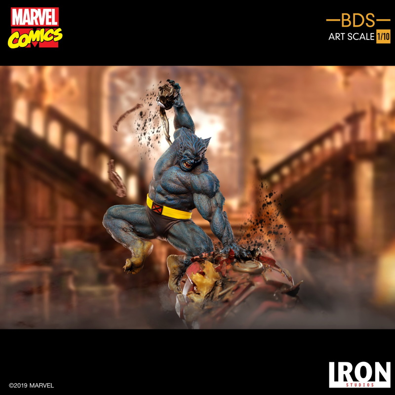 IRON STUDIOS : X-Men Battle Diorama Series Beast Statue  Iron-223