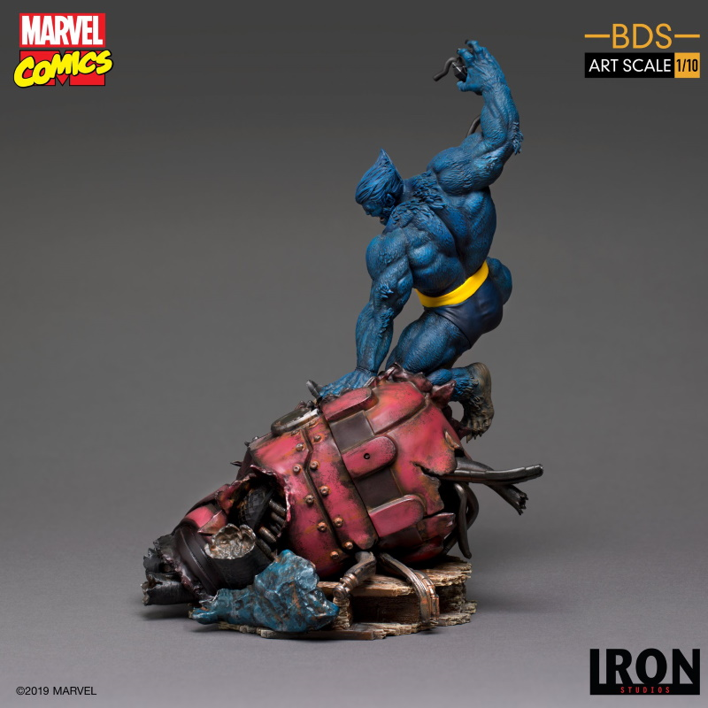 IRON STUDIOS : X-Men Battle Diorama Series Beast Statue  Iron-227