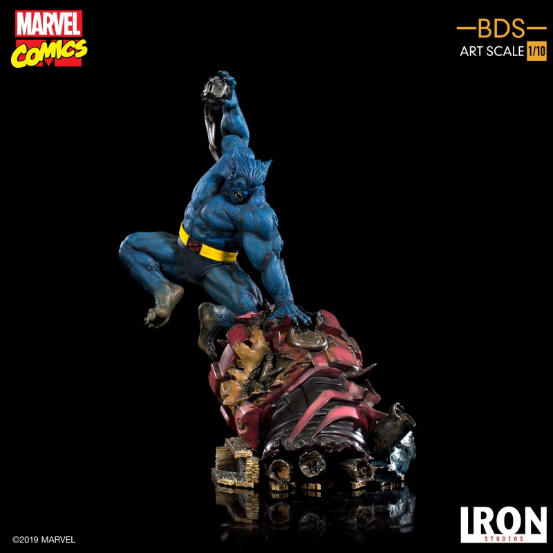 IRON STUDIOS : X-Men Battle Diorama Series Beast Statue  Iron-235