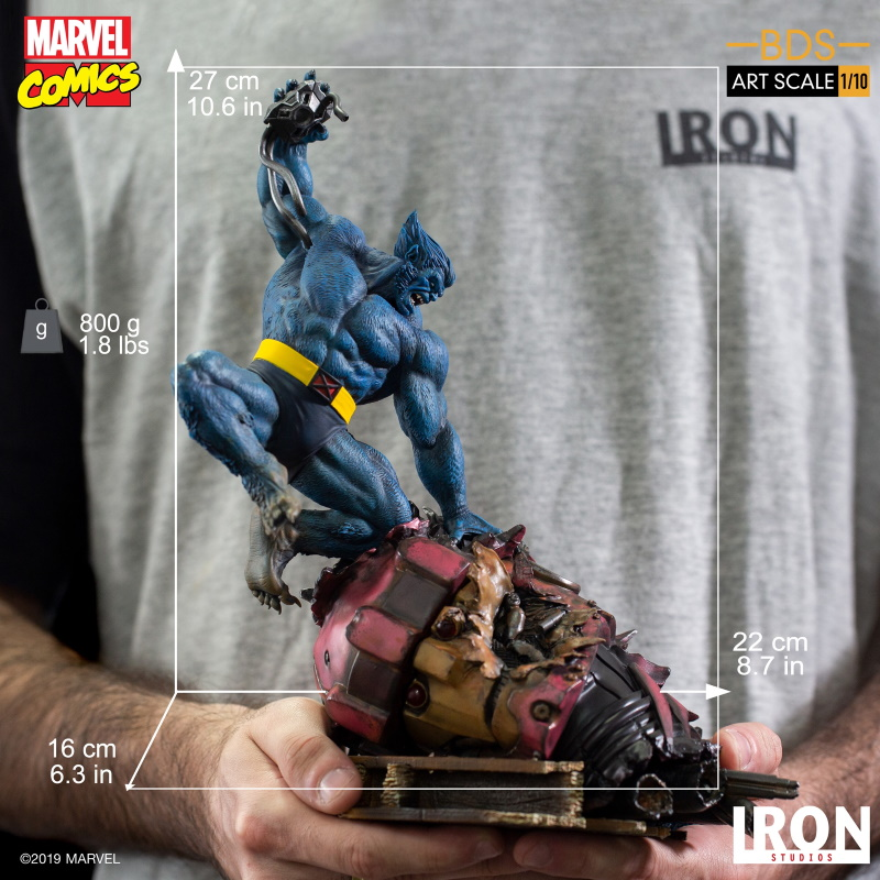IRON STUDIOS : X-Men Battle Diorama Series Beast Statue  Iron-236