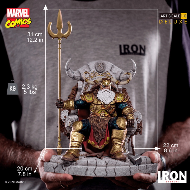 IRON STUDIOS : ODIN Deluxe 1/10 Art Scale Statue Iron-340